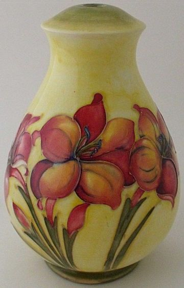 Large Moorcroft Pottery Floral Lamp Base